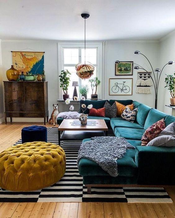Designer Budget Eclectic Living Room